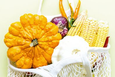 Gemüse im Netz