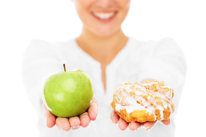 Apfel und Hefezopf