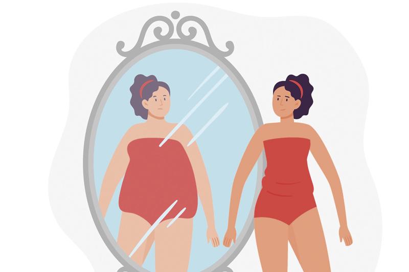 Illustration Frau im Spiegel